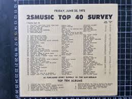 1972 Music Charts Details About 2sm Top 40 Pop Music Chart 23rd June 1972 Record Shop Flier Neil Young Harvest