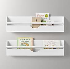Wall shelf rack Wall Mounted Small Weathered Wall Bookrack White Rh Baby Child Wall Storage Shelving Rh Baby Child