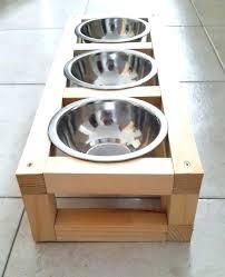 wood raised pet feeder dog feeding station cat by build diy supplies zone designer diner adjustable