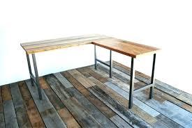 reclaimed wood furniture plans. Simple Wood Desk Furniture Plans Reclaimed L Shaped . Table