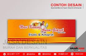 Desain Banner Contoh Desain Banner Neon Box Spanduk Ayam Geprek
