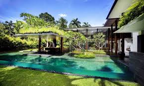 Swimming Pool Lovely Tropical Style Home Backyard Landscaping Classy Small Pool Designs For Small Backyards Style