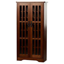 Cherry Wood Dvd Storage Cabinet Multimedia Storage Furniture Youll Love Wayfair