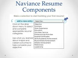 Naviance Resume Components