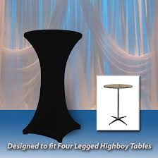 spandex round fitted tablecloth for 30 round highboy table 42 tall