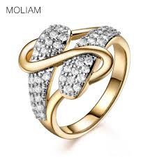 S Gold Ring Design Us 2 74 40 Off Moliam Vintage Unique S Design Women Rings 2017 New Fashion Gold Color Cubic Zircon Crystal Stackable Ring Party Jewelry Mlr597 In