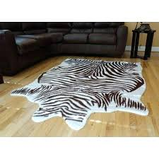 white and silver faux cowhide rug hide rugs find deals on line at animal brown zebra