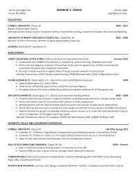 Investment Banking Resume Template Resume Samples Investment Banking Internship Resume Investment 6