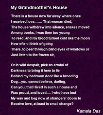 my grandmother s house poem by kamala das poem hunter