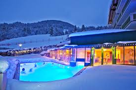 hotel outdoor pool. Heated Outdoor Pool Of The Hotel Berner In Zell Am See Winter.
