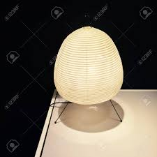 Cozy Lantern With Rice Paper Lamp Shade Home Decor Stock Photo