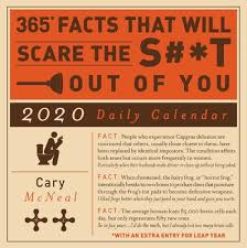 daily page calendar 365 facts that will scare the s t out of you 2020 daily