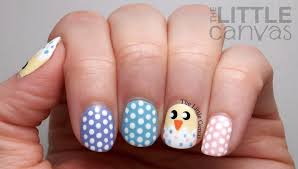 Hatched Easter Chick Nail Art + Tutorial - The Little Canvas