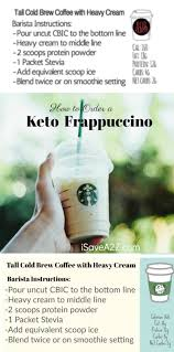 how to order a keto frappuccino from starbucks printable card included