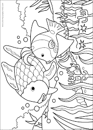 Would you want to go swimming with this fish? Mother And Son Fish Color Page Fish Coloring Page Rainbow Fish Coloring Page Coloring Books