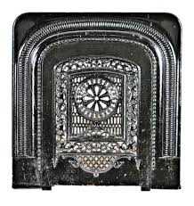 C 1874 Interior Residential Ornamental Cast Iron Two Piece