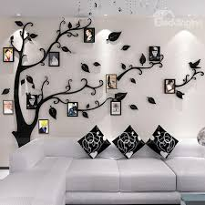 44 photo frame tree country style acrylic 3d waterproof 11 photo frames wall stickers