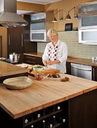 chef shelley young owner of the chopping block maintains her boos maple countertop with