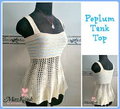 Crochet Tank Top Pattern Inspiration Peplum Tank Top AllFreeCrochet