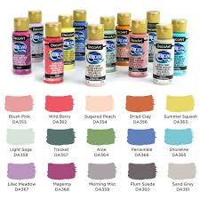 Americana Acrylic Paint Chart Decoarts 2018 New Acrylic Paint Colors Now Available At