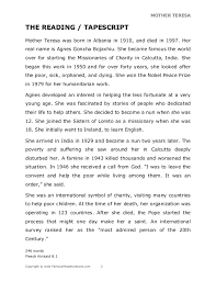 very short essay on mother teresa
