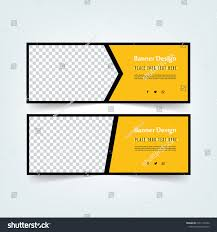 web banner design set abstract poster template facebook cover black and yellow