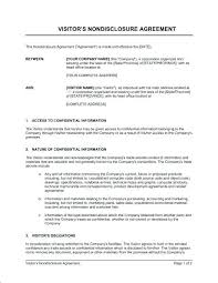 Free Nda Template Confidentiality Agreement Template Or Non Disclosure Free