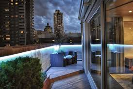 terrace lighting. LED Strip Lighting Provides Many Color Accent Options Along The Entire 160LF Parapet Wall On Front Terrace. Terrace