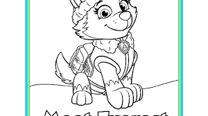 Small Picture PAW PatrolPAW Patrol Meet Everest Colouring Pack Colouring Pages