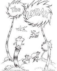 Lorax Truffula Trees Coloring Pages Fantasy Page The With Free To