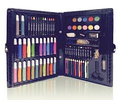 amazon deluxe art set for kids by art creativity ideal beginner artist kit includes 101 pieces watercolor crayons colored markers color pencils