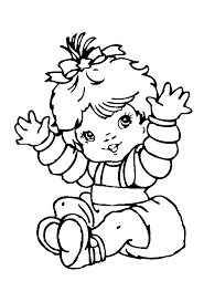 Small Picture Cute Baby Girl Coloring Pages Baby Coloring Pages Free Online