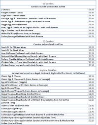 Get great deals on ebay! Dunkin Donuts Menu Price List Free Business Ideas