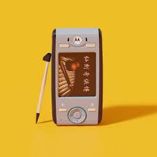 Motorola E680i mobile phone lowpoly 3D ...