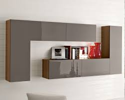 furniture stylish wall display bookcase for interior brwon oak laminate espresso high gloss bookshelf doors red