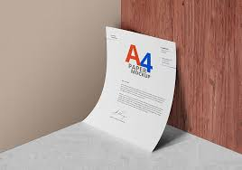 a paper mockup psd graphicsfuel
