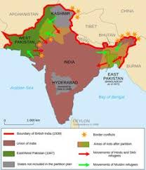 a map of india before partition in 1947 british victorian India Map Before 1600 partition of india india map before 1600