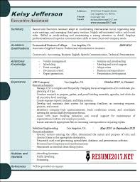 Executive Resume Samples Enchanting Executive Assistant Resume Samples 60