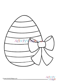 Easter Egg Colouring Page 1