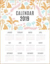 Calendar Free Downloads Free Printable 2019 Calendar Calendar 2019