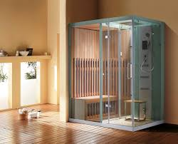steam shower and sauna cabin