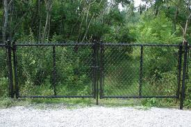 Image Installation f7009 Double Gate Middlebury Fence Middlebury Fence Chain Link Fencing Residential Fencing