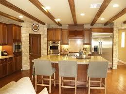 Kitchen With Hardwood Floors Rustic Kitchen With Custom Hood Hardwood Floors In San Diego Ca