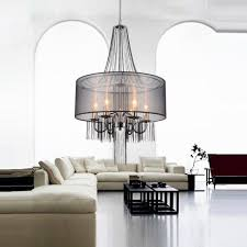cwi lighting amelia 6 light chrome chandelier with black shade