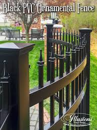 new fence ideas wow this is a curved black pvc vinyl ornamental from illusions fence so cool call your local dealer today illusions vinyl fence dealers62