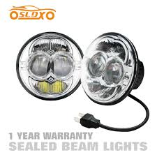 Sealed Beam Lights Us 73 6 Sldx 5 34w Round Led Headlight Sealed Beam H L Beam For Jeep Cj Wrangler Range Rover Defender E Mark Ip68 2y Warranty Silvery In Car
