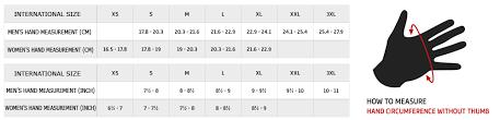 Alpinestars Glove Sizing Chart Hfx Motorsports