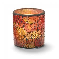 hollowick 6351rg votive candle holder red gold frosted glass 1