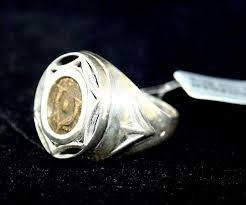 ancient coins ancient biblical widows mite coin set in silver ring