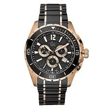 gc men s black and rose gold bracelet watch ernest jones gc men s black and rose gold bracelet watch product number 8420831